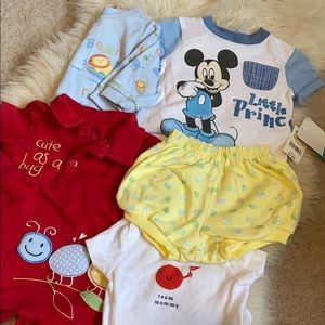 Baby boys 0-3 month 5 piece bundle